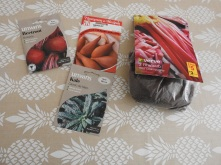 Some new seeds and a rhubarb! :-D