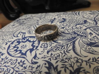 After six years I finally was given a new wedding ring, loving the design. :) x